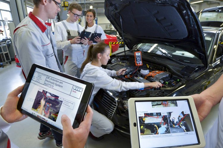 Digitale Lerntrends zeigt Audi bei »We don't need no education«